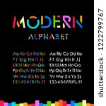 modern stylized  font and... | Shutterstock .eps vector #1222799767
