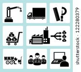 industrial management icon set | Shutterstock .eps vector #122280379