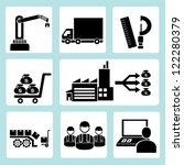 industrial management icon set | Shutterstock .eps vector #122280379