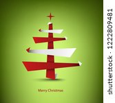 christmas card with abstract... | Shutterstock .eps vector #1222809481