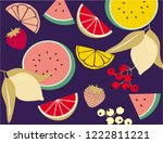colorful fruits. vector... | Shutterstock .eps vector #1222811221