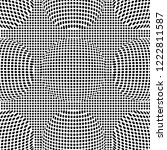 optical illusion lines... | Shutterstock .eps vector #1222811587