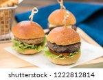 mini bun burgers | Shutterstock . vector #1222812814