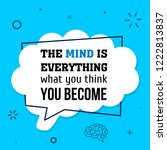 vector quote. the mind is... | Shutterstock .eps vector #1222813837