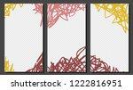 hand drawn  social media... | Shutterstock .eps vector #1222816951