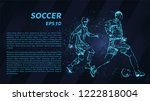 football of particles on a dark ... | Shutterstock .eps vector #1222818004