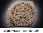 aztec calendar in high... | Shutterstock . vector #1222828384