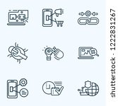 optimization icons line style... | Shutterstock . vector #1222831267