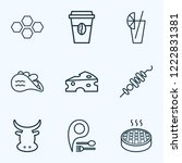 meal icons line style set with... | Shutterstock .eps vector #1222831381