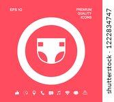 nappy icon symbol. graphic... | Shutterstock .eps vector #1222834747