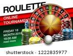 illustration online poker... | Shutterstock .eps vector #1222835977