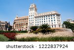 barcelona  spain   jun 1  2018  ... | Shutterstock . vector #1222837924