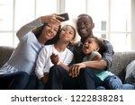 happy african american large...   Shutterstock . vector #1222838281