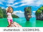 summer lifestyle traveler woman ...   Shutterstock . vector #1222841341