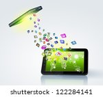 modern communication technology ... | Shutterstock . vector #122284141