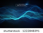 computer data flow background.... | Shutterstock .eps vector #1222848391