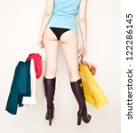 beautiful woman's back with... | Shutterstock . vector #122286145