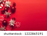 decoration with season greeting ... | Shutterstock . vector #1222865191