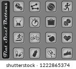 fitness vector web icons on the ... | Shutterstock .eps vector #1222865374
