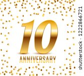 celebrating 10 anniversary... | Shutterstock . vector #1222866721