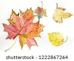 maple leaves. leaf fall | Shutterstock . vector #1222867264