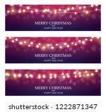 merry christmas abstract ligth... | Shutterstock . vector #1222871347