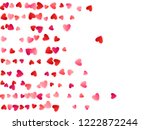 red flying hearts bright love... | Shutterstock .eps vector #1222872244