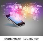 modern communication technology ... | Shutterstock . vector #122287759