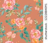 seamless watercolor background... | Shutterstock . vector #1222884091
