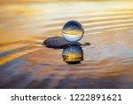 beautiful transparent glass... | Shutterstock . vector #1222891621