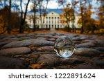 beautiful transparent glass... | Shutterstock . vector #1222891624