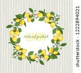 vector illustration decorative... | Shutterstock .eps vector #1222894021