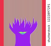 new lovely magic beauty... | Shutterstock .eps vector #1222897291