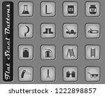 garden tools vector web icons... | Shutterstock .eps vector #1222898857