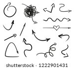 hand drawn infographic elements ... | Shutterstock .eps vector #1222901431