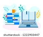 online training  exam... | Shutterstock .eps vector #1222903447