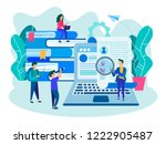 people fill out a form online ... | Shutterstock .eps vector #1222905487