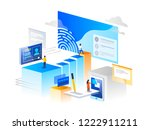 verification steps. people... | Shutterstock .eps vector #1222911211