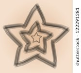 a set of vector stars drawn in... | Shutterstock .eps vector #122291281
