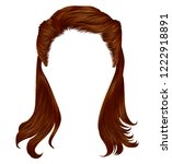 trendy woman long hairs red... | Shutterstock .eps vector #1222918891