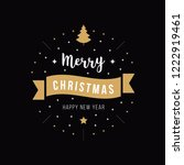 merry christmas greeting text... | Shutterstock .eps vector #1222919461