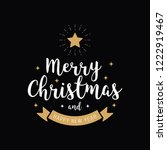 merry christmas greeting text... | Shutterstock .eps vector #1222919467