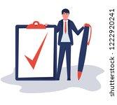 completion task. businessman... | Shutterstock .eps vector #1222920241