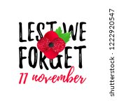 remembrance day vector poster.... | Shutterstock .eps vector #1222920547