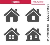 house icons. professional ... | Shutterstock .eps vector #1222924597