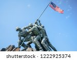 us marine corps war memorial in ... | Shutterstock . vector #1222925374
