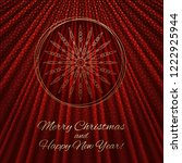 this is a red gold background... | Shutterstock .eps vector #1222925944