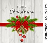 christmas background with fir... | Shutterstock .eps vector #1222931191