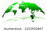3d globe map in green color... | Shutterstock .eps vector #1222932847