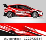 rally car wrap. abstract strip... | Shutterstock .eps vector #1222933864